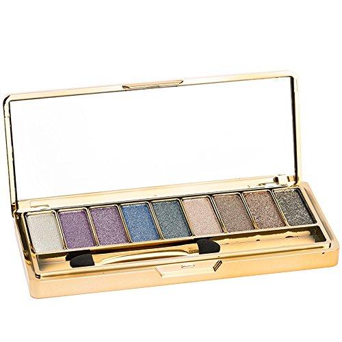 Contever® Pro Make Up Designer 9 Colori Shimmer Palette di ombretti Trucco Tavolozza 002