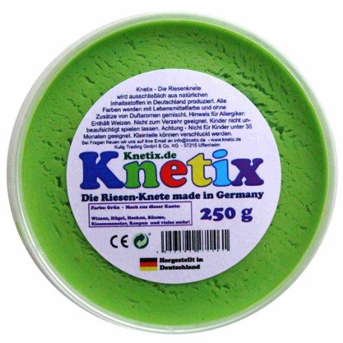 Knetix Knetmasse Kinder Softknete, 250g Knete, grün
