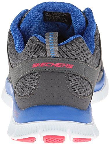 Skechers Flex AppealAdaptable, Sneakers basses femme Gris (Grau (CCBL))