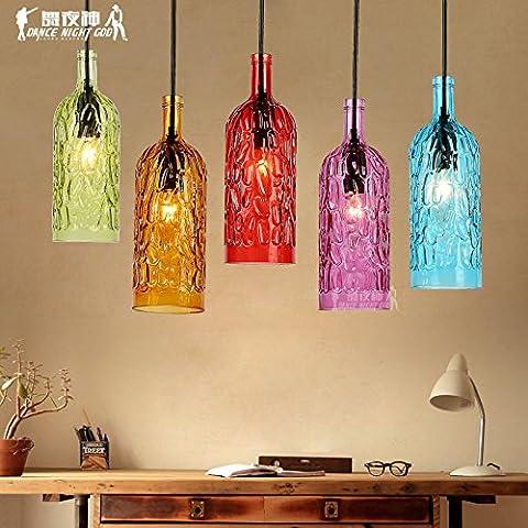 Lbcvh Sencillez nórdica personalidad creativa candelabros de hierro y vidrio, vintage comedor droplight,China ninguna fuente de luz