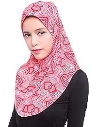 GladThink Mujeres De Seda Del Hielo Musulmán Hijab Pañuelo
