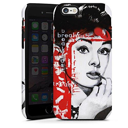 Apple iPhone 5s Housse Étui Protection Coque Audrey Hepburn Dessin Femme Cas Tough terne
