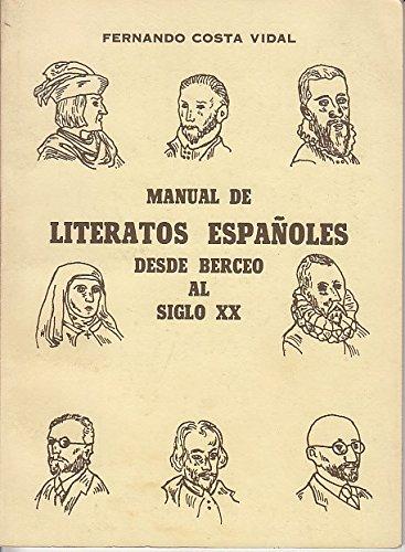 MANUAL DE LITERATOS ESPAOLES DESDE BERCEO AL SIGLO XX
