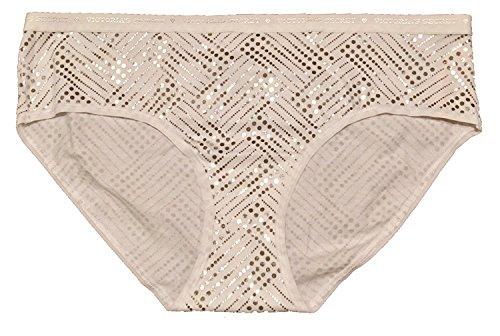 Victoria 's Secret Damen Baumwolle Dessous Hiphugger Panty (mittel, weiß) Gr. Medium, weiß