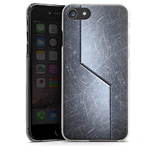 Apple iPhone X Silikon Hülle Case Schutzhülle Stahl Metall Look Muster Hard Case transparent