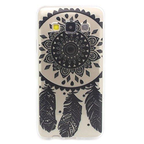 Galaxy A3 (2015) Hülle, JIAXIUFEN Schutzhülle Case Cover Schale Tasche Hülle für Samsung Galaxy A3 (2015) (SM-A300F) Hülle Handytasche HandyHülle Etui Schale - Henna Black Ojibwe Dream Catcher Ethnic Tribal