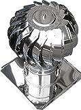windgetriebener Dachventilator mit Platte - Rohrdurchmesser 150 mm
