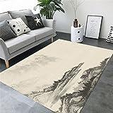 Wohnzimmer Dekoration Teppich Bodenfliesen chinesischen einfachen Stil Landschaftsmalerei 3D Druck rechteckigen Teppich geometrische Muster Schlafzimmer rutschfeste Teppich Kinder Teppich Teppich Teppiche