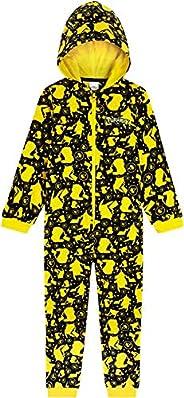 Pokèmon Pijama Niño de Una Pieza, Pijama Pikachu para Niños, Pijamas Enteros de Forro Polar con Capucha, Regal