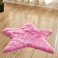Pentagram floor mat Non Slip Rug Mats Hairy Soft Fluffy Faux Fur Carpet Mat Home