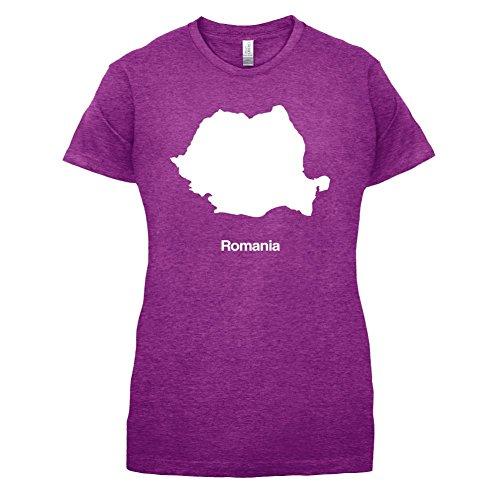 Romania / Rumänien Silhouette - Damen T-Shirt - 14 Farben Beere
