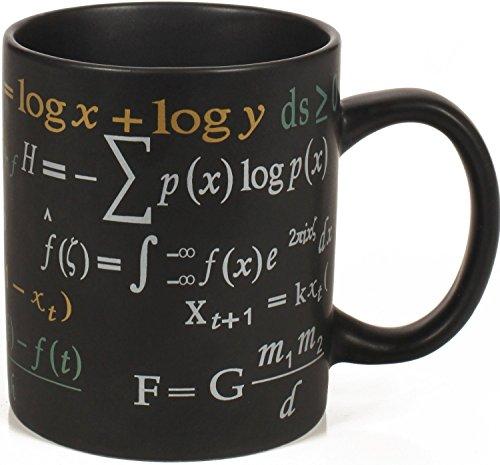 La taza matemáticas - botella con boquilla y tapa diseño de - negro portátil con tapa fórmulas - Ideal para los principiantes en matemático o gafas con