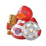 FC Bayern München Badeente, Quietscheente, Ente, Duck Double Gewinner FCB - Plus Gratis Aufkleber Forever München