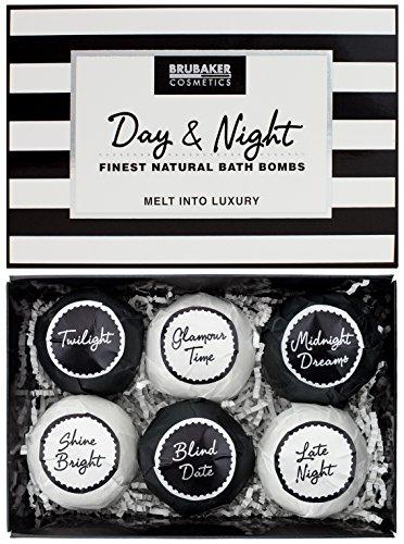BRUBAKER Cosmetics Bombe da bagno 'Day & Night' - Set da 6 pezzi - vegane, fatte a mano, senza glutine e parabeni