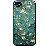 K9Q Sakura Vintage Flower Watercolor Art Tribal Tree Pattern Hard Back Skin Case Cover For Apple iPhone 4 4G 4S Style B