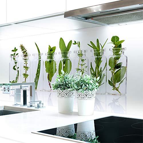 Küchenrückwand Kräuter Glas Premium Hart-PVC 0,4 mm selbstklebend - Direkt auf die Fliesen, Größe:60 x 80 cm