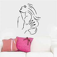 ufengke Bellezza Sexy Ritratto Testa Elegante Euramerican Adesivi Murali, Camera da Letto Soggiorno Adesivi da Parete Removibili/Stickers Murali/Decorazione Murale