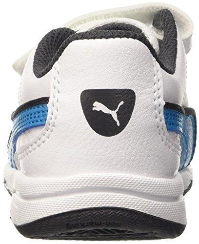 Puma Stepfleex Fs Sl V, Baskets Basses Mixte Enfant Bianco/Atomic Blue