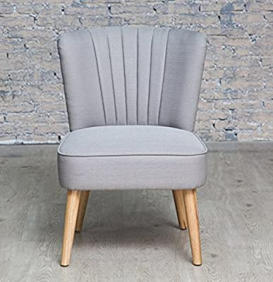 Grey Fluted Style Back Oyster Occasional Chair - inexpensive UK light store.