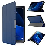 IVSO Samsung Galaxy Tab A 10.1 Etui Housse Slim Smart Cover Housse de Protection pour Samsung Galaxy Tab A 10.1 2016 SM-T580N / T585N Tablette, Bleu