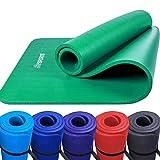 Scsports Gymnastik-/ Yoga-Matte, dick und rutschfest, mit Schultergurt, 190 cm x 100 cm x 1,5 cm,...