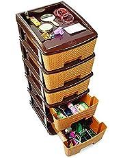 Aufers Megnum 5 Closet Divider Plastic Containers/Drawer Organisers (Multicolour)