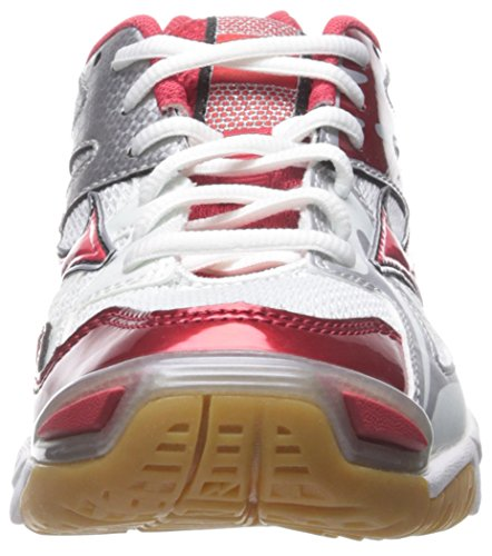 Mizuno Wave Bolt 4 Large Synthétique Baskets White-Grey-Red