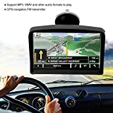 Zerone Navigazione di auto 7 pollici Navigatore GPS per camion, navigatore GPS schermo ad alta definizione