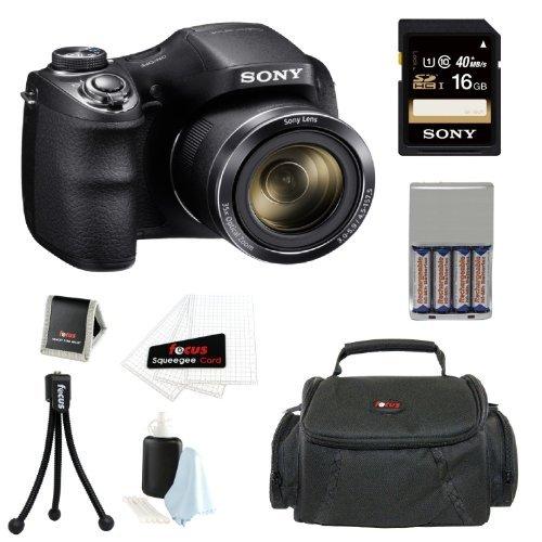 Sony H300 DSCH300B DSC-H300/B High zoom digital camera Black
