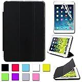 BESDATA Pour Apple iPad mini Housse Magnétique Smart Cover + Coque Arrià..re Dure Stylus Gratuit- Qualité Supràªme - Protéger l'équipement - FR Stock - Noir - PT2500