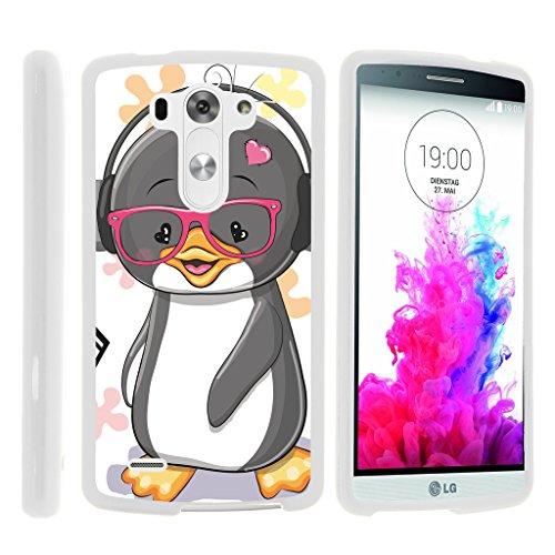LG G3Hülle | D850| D855| D851| VS985| LS990[Slim Duo] Hard Shell Snap on Case Compact Cover Matt auf Weiß Sea Ocean Design by turtlearmor -, Cute Penguin (Tmobile Fall Lg G3)