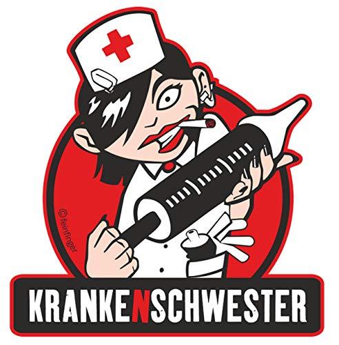 Aufkleber Wetterfest Krankenschwester 12 oder 35cm lustig Beruf Spruch Geschenk -