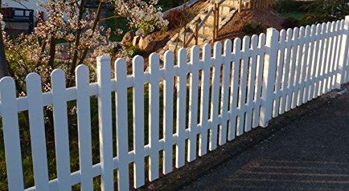Gartenzaun | Kunststoff weiss | gerade Form | BxH 180 x 80 cm