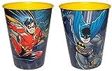Diverse 4 x Becher DC Batman u Robin Comic Trinkbecher Saftbecher Zahnputzbecher Party