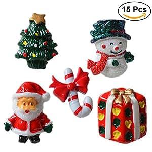 rosenice 15 st ck weihnachten dekofiguren tischdeko kinder mitgebsel geschenke miniatur deko. Black Bedroom Furniture Sets. Home Design Ideas
