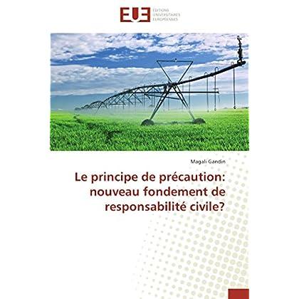 Le principe de précaution: nouveau fondement de responsabilité civile?