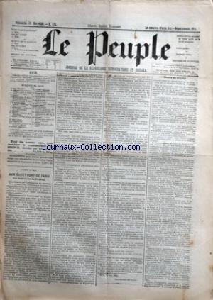 PEUPLE (LE) [No 175] du 13/05/1849 - BULLETIN DE VOTE - BAC - BOLCHOT - CABET - CHARRASSIN - CONSIDERANT - D'ALTON SHEE - DEMAY - GENILLEZ - GREPPO - HERVE - HIZAY - LAGRANGE - LAMENNAIS - LANGLOIS - LEBON - LEDRU-ROLLILN - LEROUX - MADIER DE MONTJAU - MALARMET - MONTAGNE - PERDIGUIER - PROUDHON - PYAT - RATIER - RIBEYROLLES - SAVARY - THORE ET VIDAL - AUX ELECTEURS DE PARIS - LES REDACTEURS DU PEUPLE - PROCES