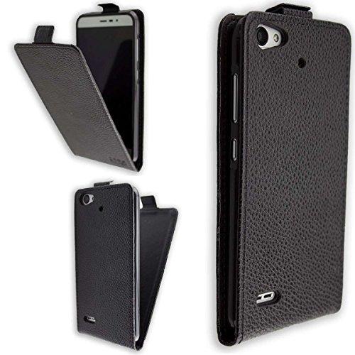 caseroxx Hülle/Tasche Flip Cover passend für Medion Life P5006 MD 60752, Schutzhülle (Handytasche klappbar in schwarz)