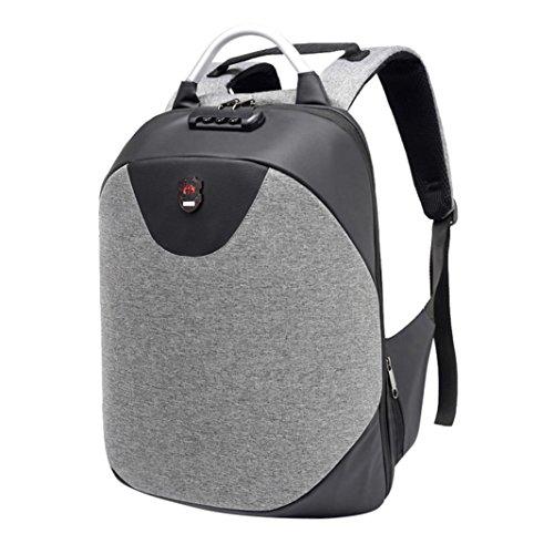 SANFASHION Mode multifunktionale Anti Theft Rucksack High Capacity Laptop Tasche mit USB