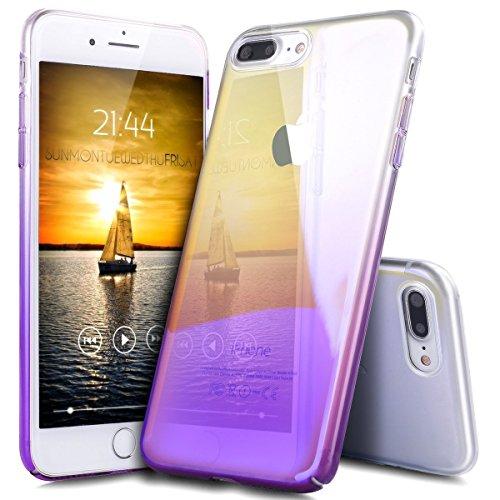 iPhone 8 Cover, iPhone 7 Custodia Case, JAWSEU Apple iPhone 8 4.7 Custodia Cover Gradiente Colore Riflessivo Ultra Sottile Leggero Custodia Liscio Anti Graffio Anti Scossa Anti Scivolo Coperture Bumpe Gradiente Porpora
