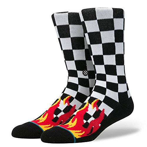 stance-mens-chex-crew-socks-black-l