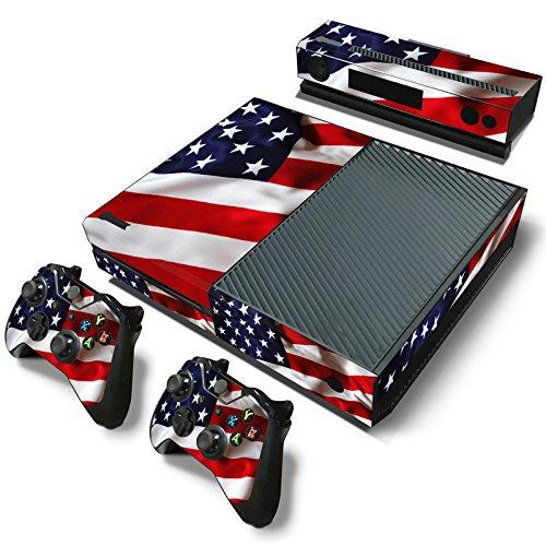 GameCheers Xbox One Konsole and 2 Controllers Skin Set - USA Flag US - XboxOne Vinyl