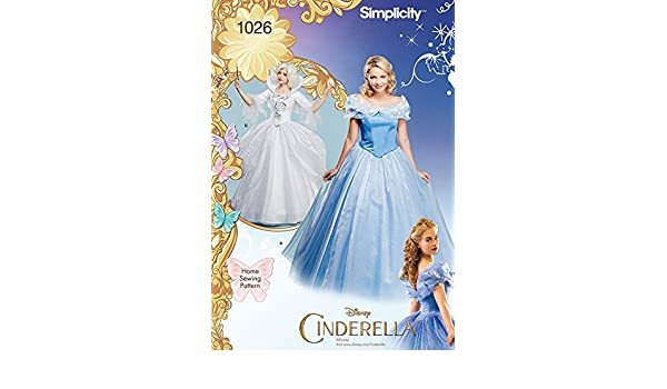 Simplicity Damen Schnittmuster 1026 Disney Cinderella Kleider ...