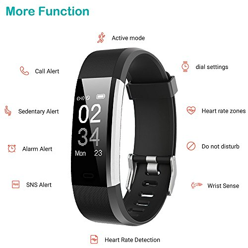 51ON0fdubfL. SS500  - YAMAY Fitness Trackers,Fitness watch with Heart Rate Monitor Waterproof IP67 Smart Watches Pedometer Watch Activity Trackers Watch Step Counter for Kids Women Men Call SMS Push for iOS Android Phone