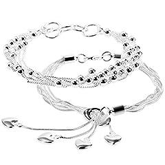 Idea Regalo - Lictin Braccialetto femminile 925 Argento 20cm Buono regalo per Compleanno e San Valentino