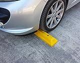 PWS-32Yx2 Kunststoff Radstopp-Parkbegrenzung für gewerbliche und private Parkhäuser, Parkplätze und Privatgaragen, Farbe Gelb, Abmessungen 53×15 x 9,5 cm (2er Pack)