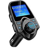Mpow Trasmettitore FM Bluetooth, FM Trasmettitore per Auto Radio Adattatori Vivavoce Car Kit per Scheda TF, USB Port, Micro SD Card, U Disk, Cellulari, Tablet Portatile, Altri Dispositivi Bluetooth