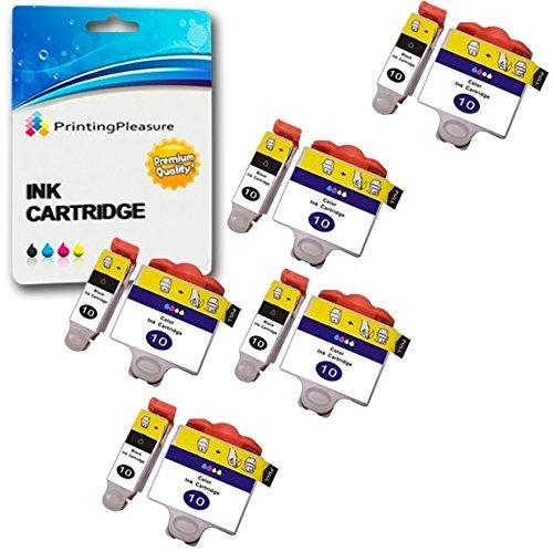 10 XL Tintenpatronen kompatibel zu Kodak 10B & 10C für Kodak ESP 3 5 7 9 3200 3250 5000 5100 5200 5210 5250 5300 5500 6100 6150 7200 7250 9200 9250 Hero 6.1 7.1 9.1 - Schwarz/Color, hohe Kapazität - Kodak Tinte 3250 Drucker
