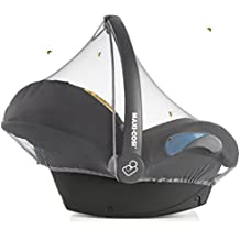 Zamboo Mosquitera Universal para Silla de coche bebé (p. ej. Maxi-Cosi, Cybex, Römer) | Red antiinsectos, resistente, con goma elástica y abertura para asa - Gris
