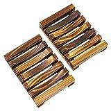 KEESIN - Jabonera de Madera ecológica de bambú Natural para baño o...
